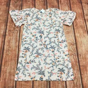 Gap Girls 18-24M 2T 4T Peach Floral Dress
